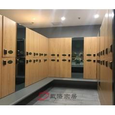 【热销】厂家定制直销洗浴中心桑拿木质员工更衣室柜子