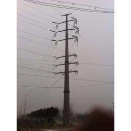 齐齐哈尔市钢杆厂家供应35kv电力钢杆 终端钢杆 打桩施工