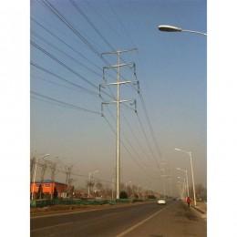 牡丹江市厂家供应10米10kv电力钢杆 转角钢杆 打桩施工