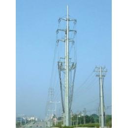 七台河市钢杆厂家 12米66kv电力钢杆 转角钢杆 钢桩基础