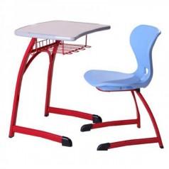学校课桌椅HY-0247低价课桌椅供应商