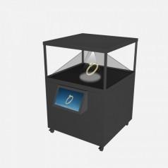 180度270度360度落地互动全息投影展示柜