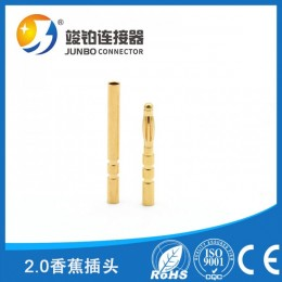 厂家定制3.5 4.0香蕉插头5.0 8.0镀金五金头 10.0镀镍香蕉插头