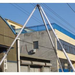 手摇立杆机8~15米铝合金三角架立杆  人字抱杆电线杆起杆机