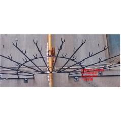 供应小区下水管道防盗刺,防爬刺,管道防盗刺厂家制作