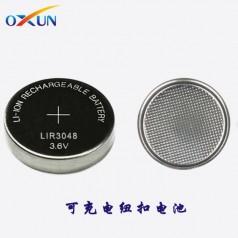 深圳OXUN电池厂家直销LIR3048充电纽扣电池 3.7V锂电池