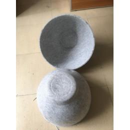 毛毡灯罩模压成型 毛毡猫窝盒子冷热压加工成型厂家