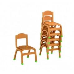 幼儿园家具进口榉木实木小椅(可叠5张)环保水性漆国家儿童漆标准