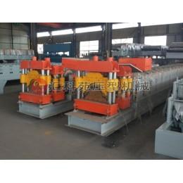 汇科苑冷弯机械全自动彩钢屋脊瓦压型设备