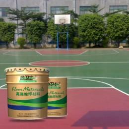 佛山室外篮球场地坪漆工程 耐候性强不变色的地卫士球场地坪漆