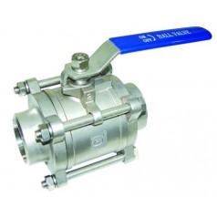 三件式对焊球阀 不锈钢焊接阀门 应用水利 电力 化工等行业