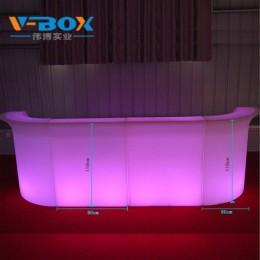 厂家直销led发光吧台 七彩智能遥控防水可充电迎宾台收银台