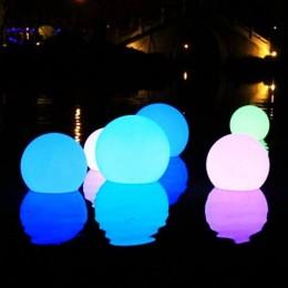 厂家直销发光圆球灯 LED防水户外吊灯 七彩遥控充电直插圆球灯 草坪灯