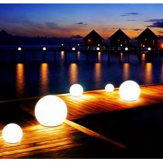 led发光圆球灯 户外发光球形灯太阳能圆形草坪灯庭院变色七彩球灯