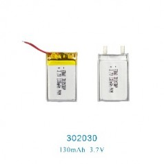 厂家直销定制302030聚合物锂电池3.7V150MAH自拍杆蓝牙充电锂电池