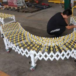 福来轮伸缩线可伸缩可移动式600mm宽的装卸货神器