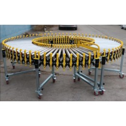 带挡边式无动力滚筒伸缩线600mm宽食品输送机