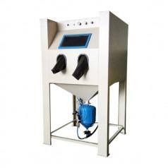 石板加压高深度手动喷砂机模具除锈高压喷沙机箱式喷砂机